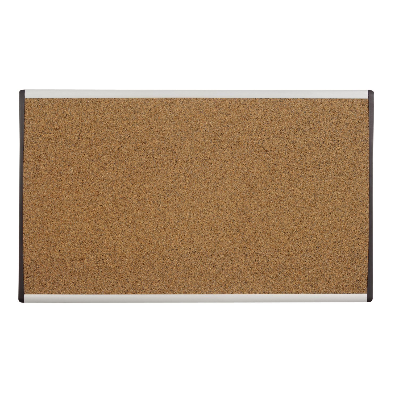 Quartet Bulletin Board, 30 x 18, Corkboard, Cubicle, Arc, Aluminum Frame (ARCB3018) 30 x 18 ACCO Brands