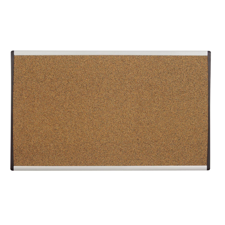 Quartet Bulletin Board, 30'' x 18'', Corkboard, Cubicle, Arc, Aluminum Frame (ARCB3018) by Quartet