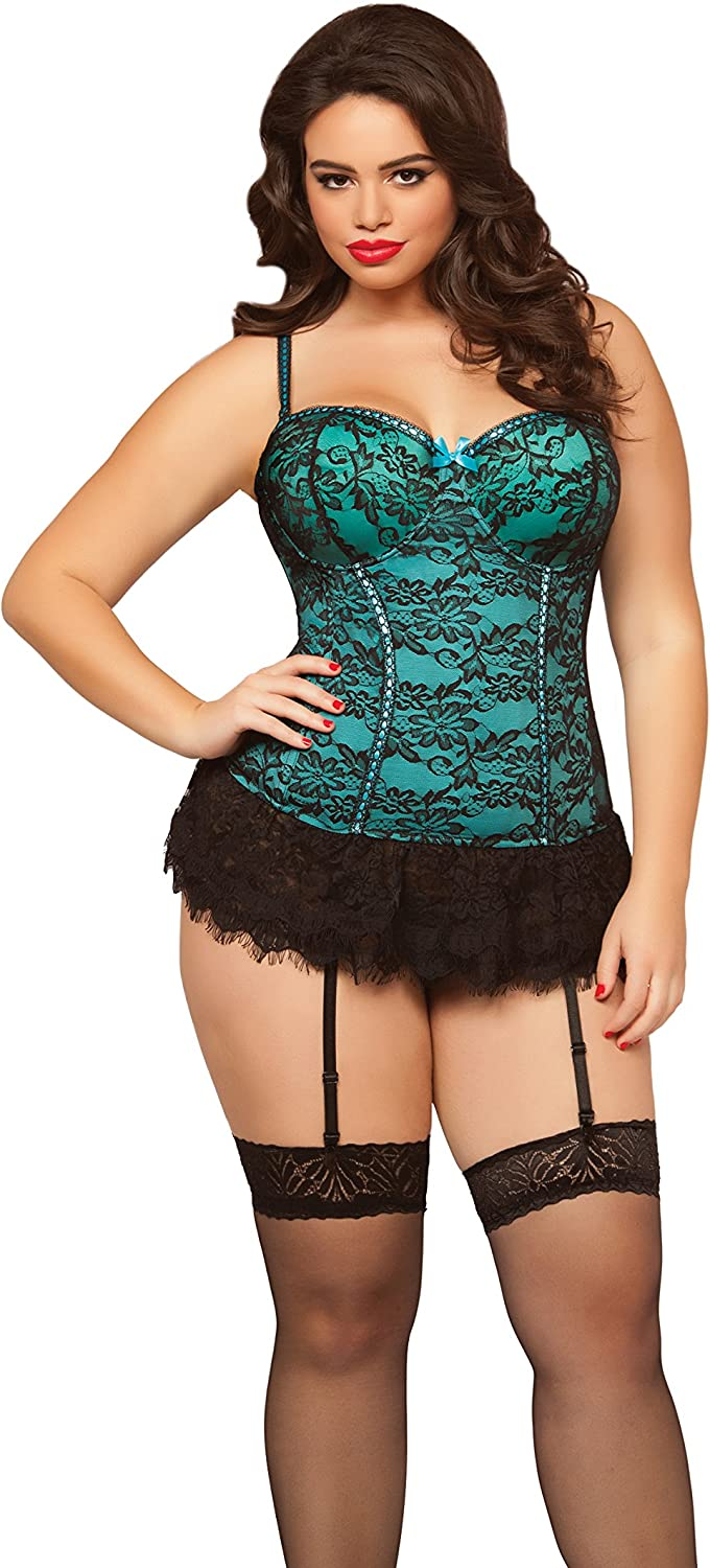 SEVEN TIL MIDNIGHT Womens Victorian Lace Bustier