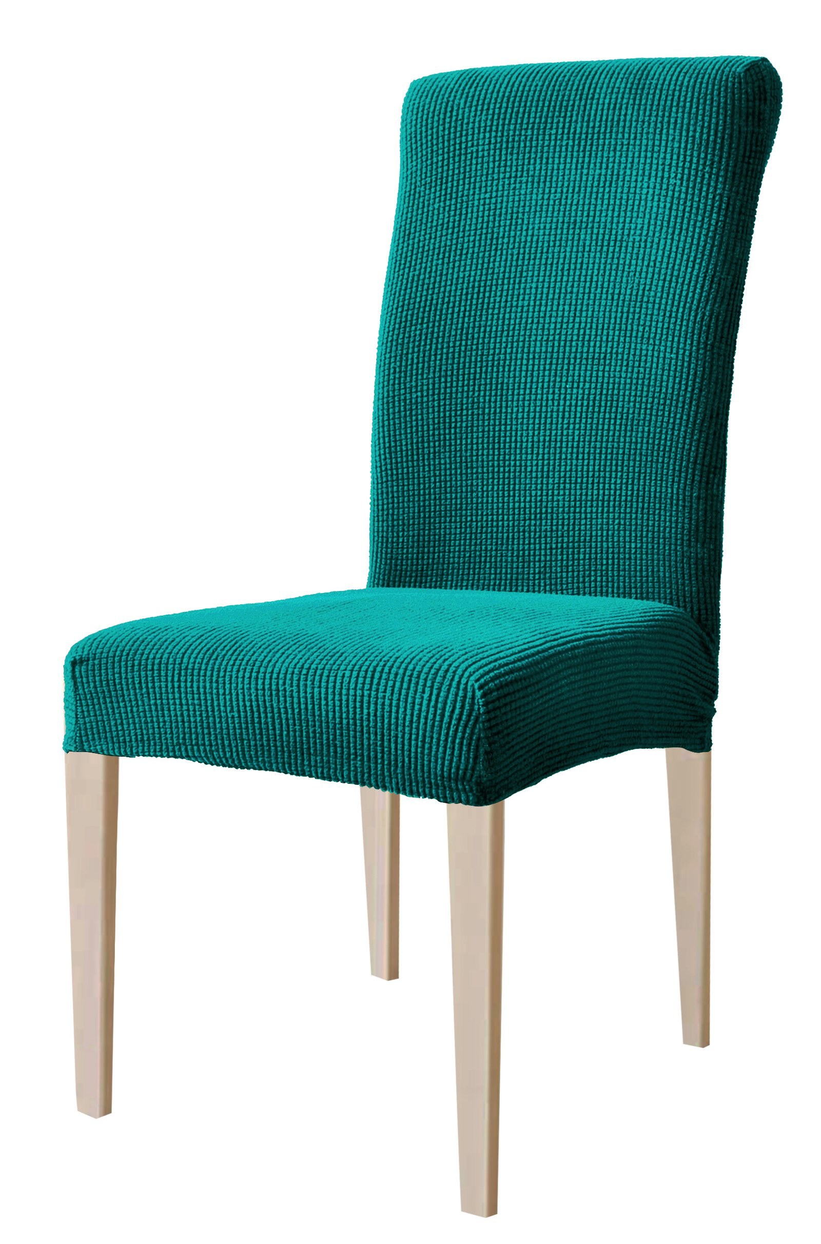 DyFun Jacquard Spandex Stretch Dining Room Chair Slipcovers (4, Blue)