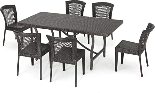 Christopher Knight Home Charleston Outdoor Wicker Dining Set