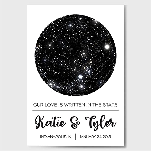 Amazon Custom Personalized Star Constellation Map Chart