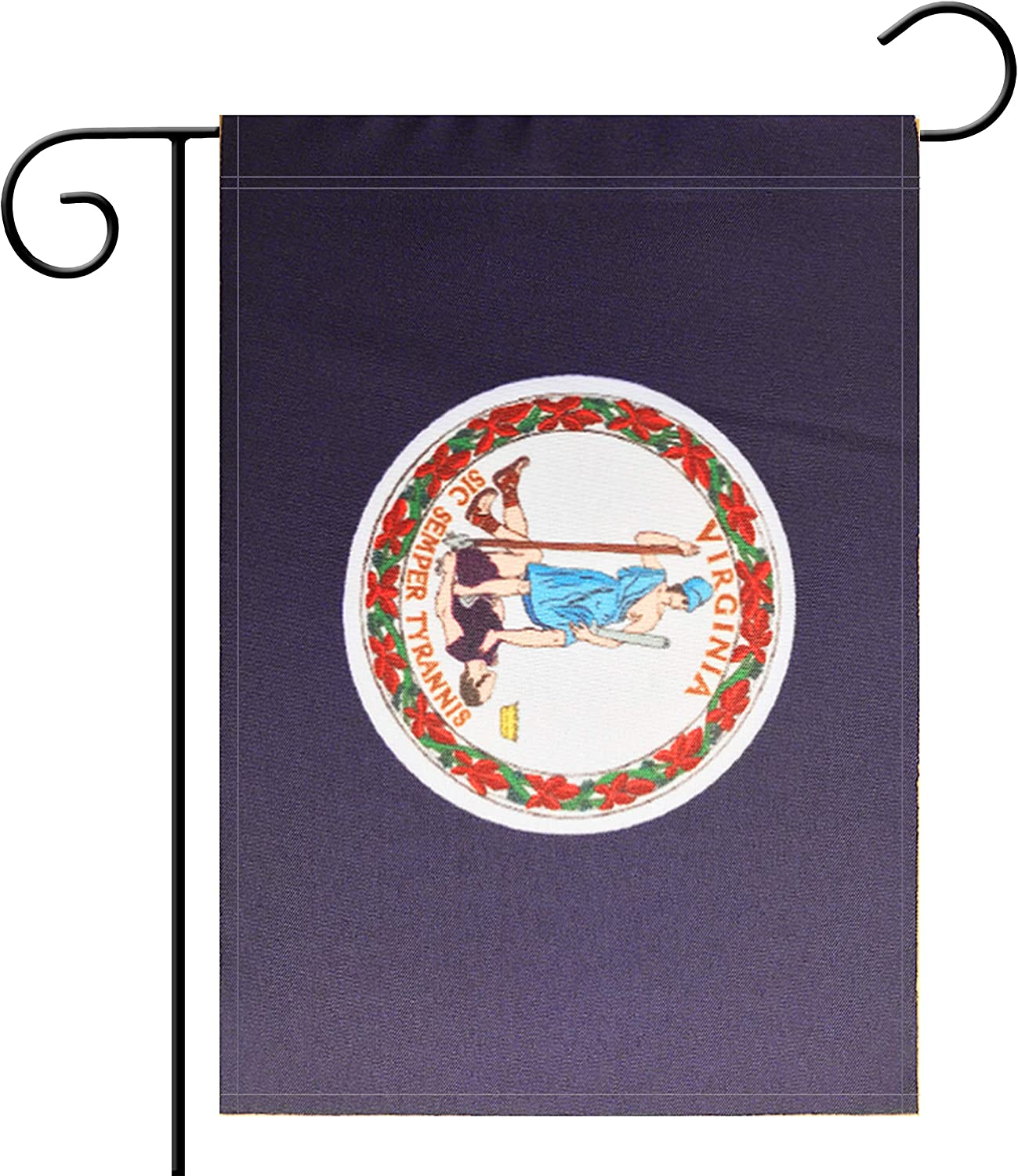 Flag Garden Virginia State Garden, Garden Decoration, Indoor and Outdoor, Celebration Parade, Virginia State Party Event Decorations,Double-Sided.