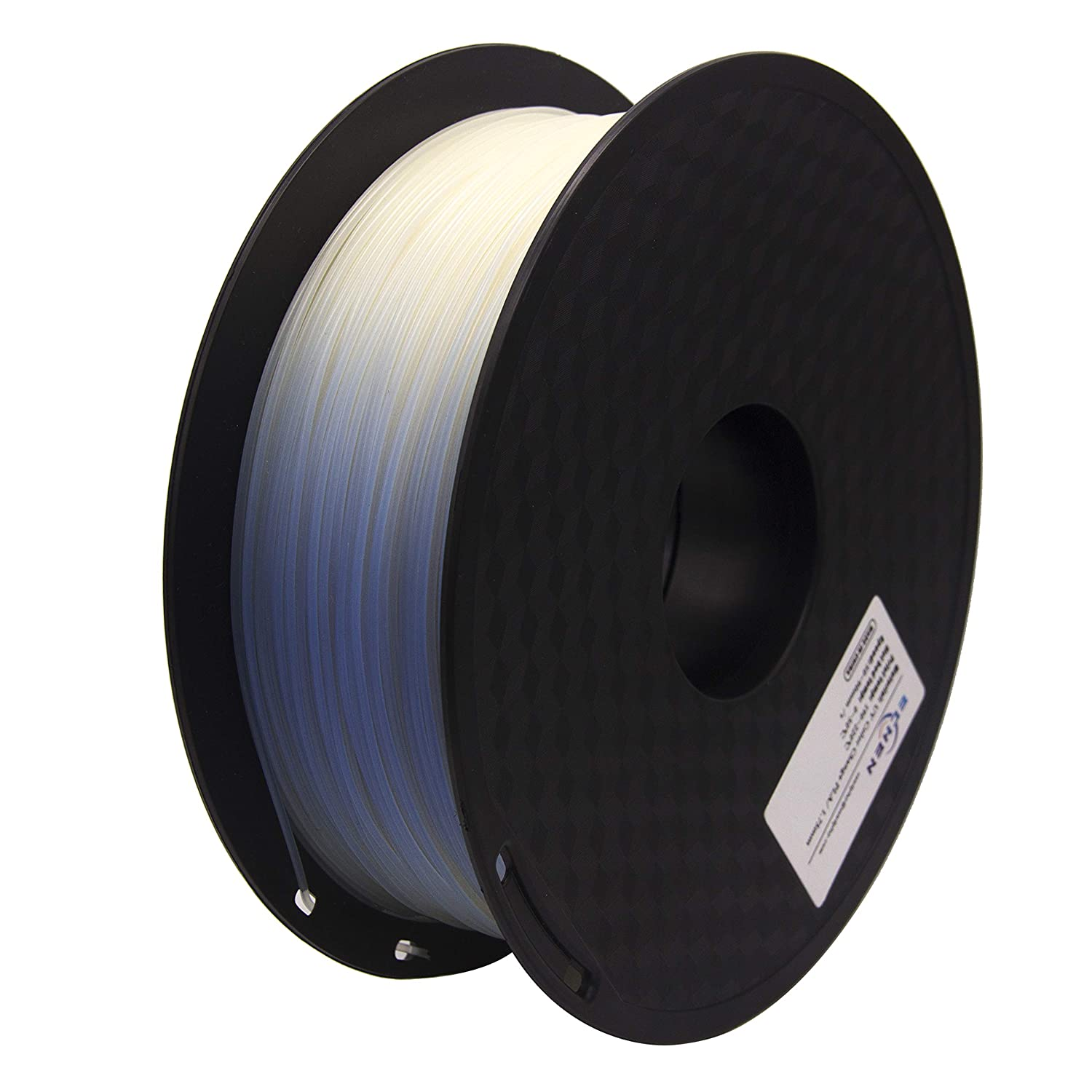 Glow in The Dark Red 1 kg Spool 1.75mm Includes Sample Tri Color Changing with Temperature Filament. AMOLEN PLA 3D Printer Filament
