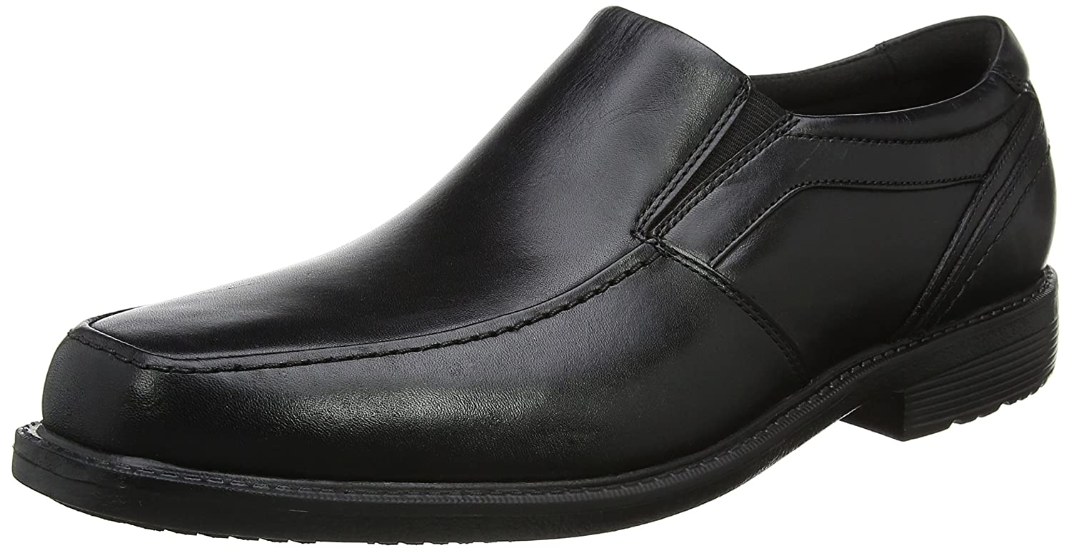 Rockport Style Leader 2 Moc Toe So Black, Mocasines para Hombre 46 EU|Negro (Black)