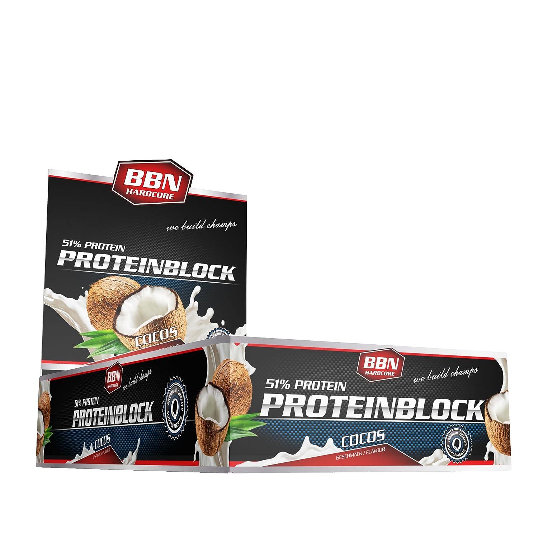 BBN Hardcore Protein Block Barrita de Proteína, Coco (Coconut) , 15 Barras: Amazon.es: Salud y cuidado personal