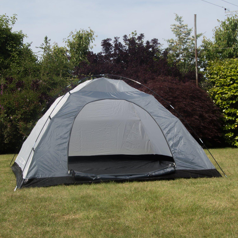 Adtrek Blue/Grey Double Skin Dome 4 Man Berth C&ing Festival Family Tent Amazon.co.uk Sports u0026 Outdoors & Adtrek Blue/Grey Double Skin Dome 4 Man Berth Camping Festival ...