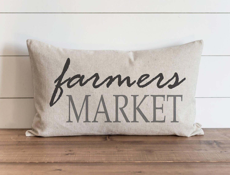 CAROLJU Farmers Market 16 x 26 Pillow Cover Everyday Farmhouse Throw Pillow Gift Accent Pillow Carol22Juliana