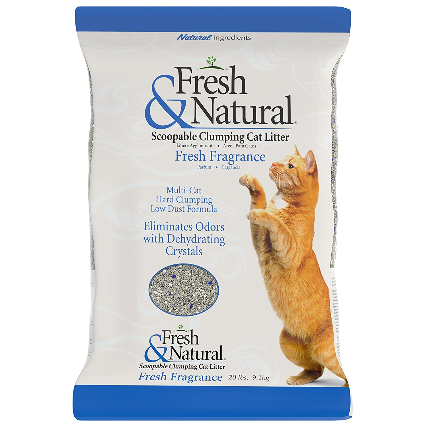 Fresh & Natural Scoop-Able Clay Cat Litter, 20-Pound, Fresh Fragrance