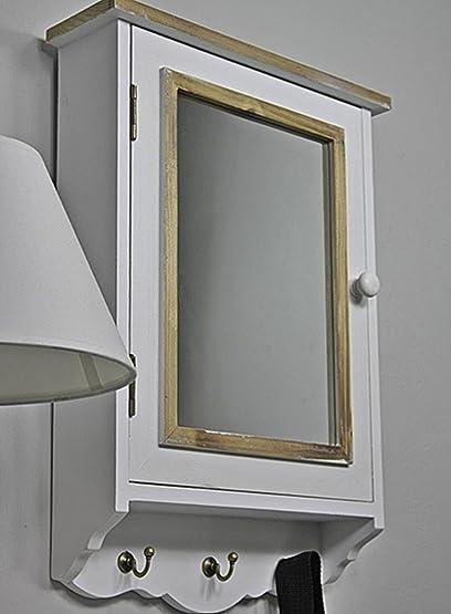 Super elbmoebel cassetta portachiavi con specchio e gancio portachiavi  OJ57