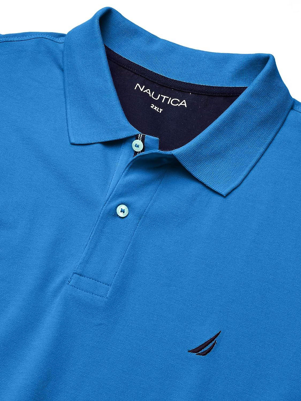 33b9f5746 Amazon.com  Nautica Men s Big and Tall Short Sleeve Solid Deck Polo Shirt   Clothing