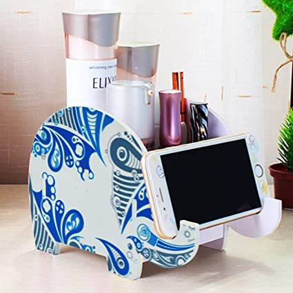 Lovely Desk Supplies Organizer, Mokani Creative Elephant Pencil Holder  Multifunctional Office Accessories Desk Decoration With Cell