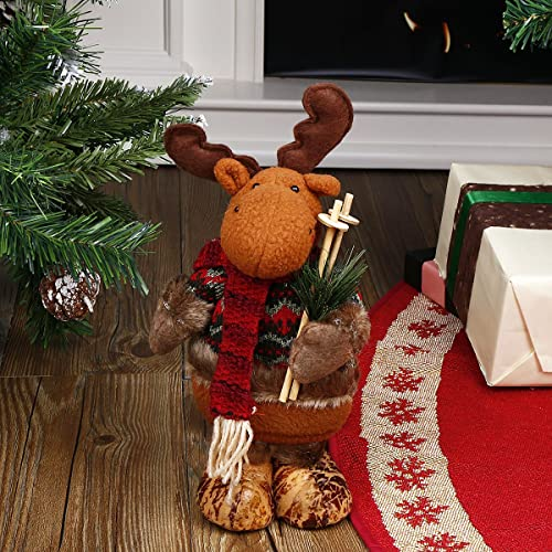 codream 11 standing reindeer christmas collectible figurine toy tree decent ornaments home indoor table fireplace - Amazon Christmas Decorations Indoor