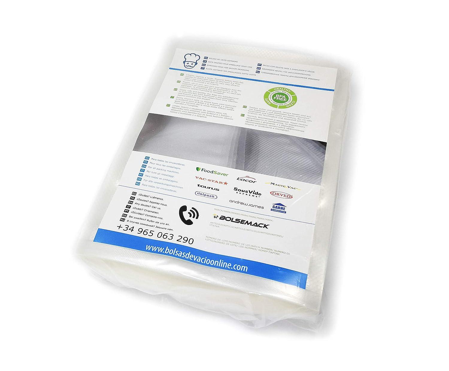 Bolsas de vacío gofradas 230x275mm. (100 uds.): Amazon.es: Hogar