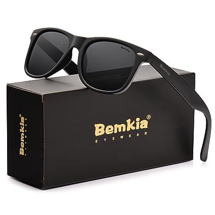 451db9aea40 Bemkia Men Sunglasses Polarized Women Retro Classic UV 400 Protection 54 MM  (13 Glossy Frame