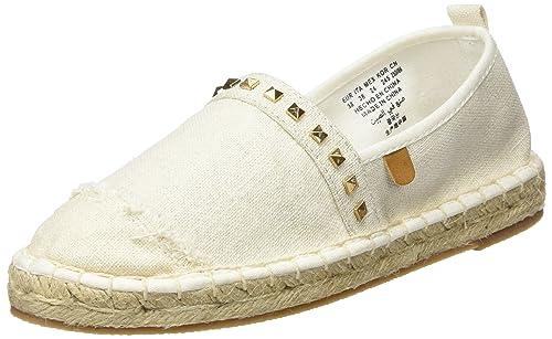 Springfield Espardeña Puntera, Mocasines para Mujer, (Beige), 38 EU: Amazon.es: Zapatos y complementos