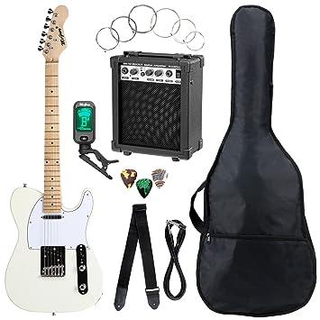 McGrey ROCKIT TL de Style – Set completo de guitarra (8 piezas principiantes con guitarra