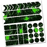 AlphaShield Framebescherming fiets, foliestickers, carbon, voor MTB/BMX, lakbescherming, K099, K100