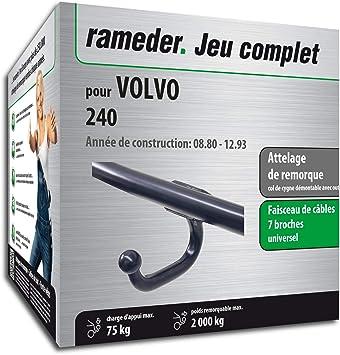 Conjunto completo RAMEDER, enganche de remolque, equipo eléctrico, 7 de 240 espigas Volvo (130945-00211-1): Amazon.es: Coche y moto
