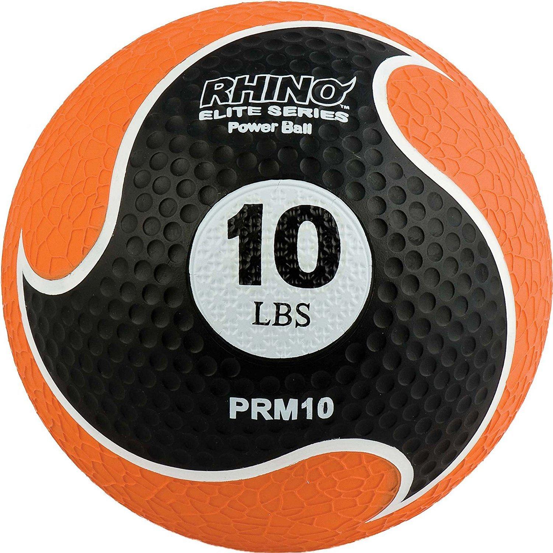 Champion Sports Rhino Elite Medicine Ball (10 pounds), Orange