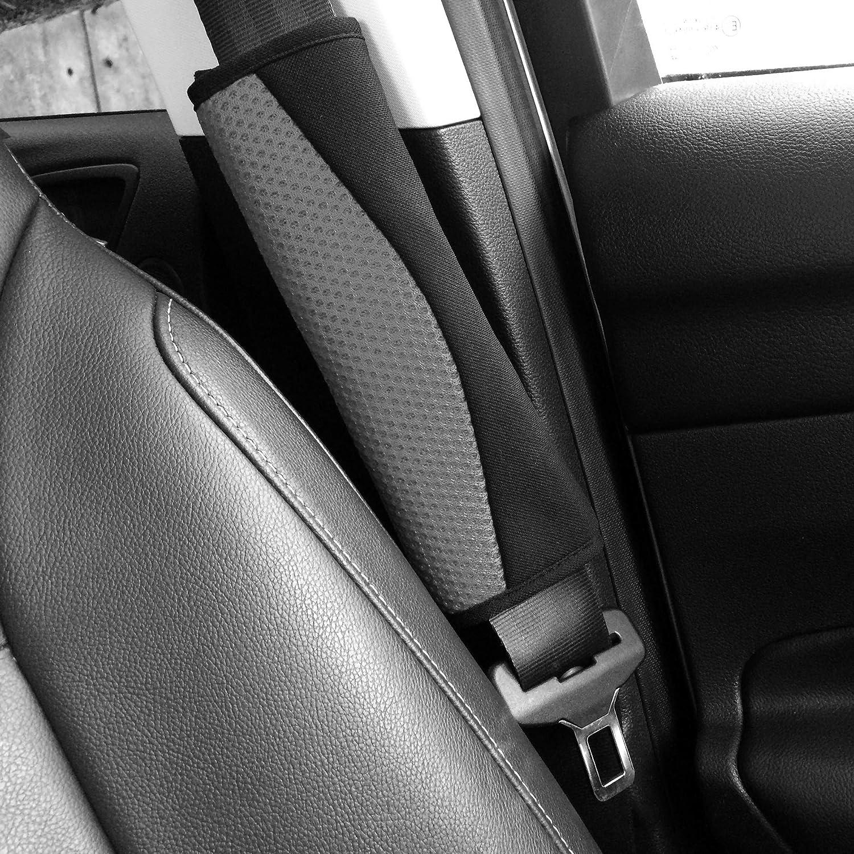 Set Of 2 Carnaby Blue//black Universal Fit Sakura SS5322 Seat Belt Pads