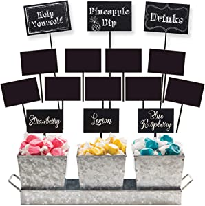 Creative Converting Chalkboard Table Decor Bundle | Food Markers, Centerpiece Stickers | Kids Birthday Party, Wedding, Message Board Signs, Event Decorations, Graduation Celebration