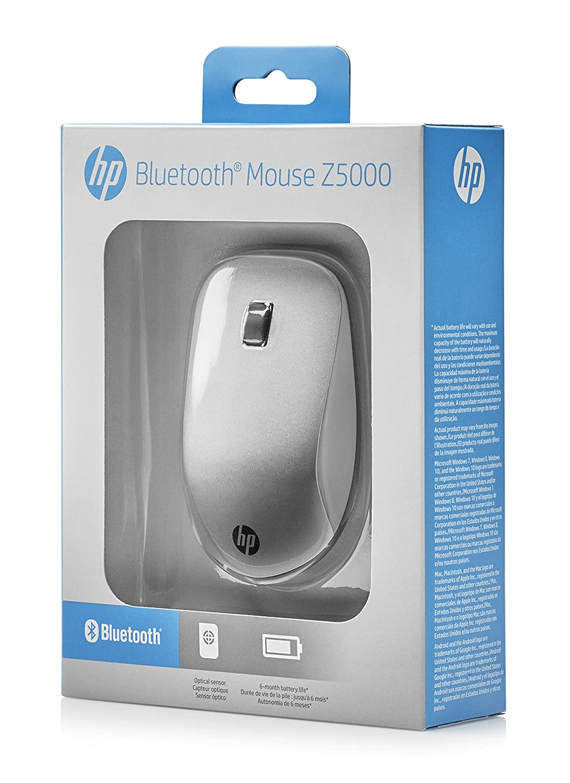 HP Z5000 - Ratón (Ambidextro, Óptico, Bluetooth, 1200 dpi, 44 g, Plata): Hp: Amazon.es: Informática