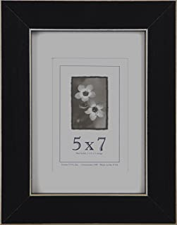 product image for Frame USA Clean Cut Series 5x7 Wood Picture Frames (Black)