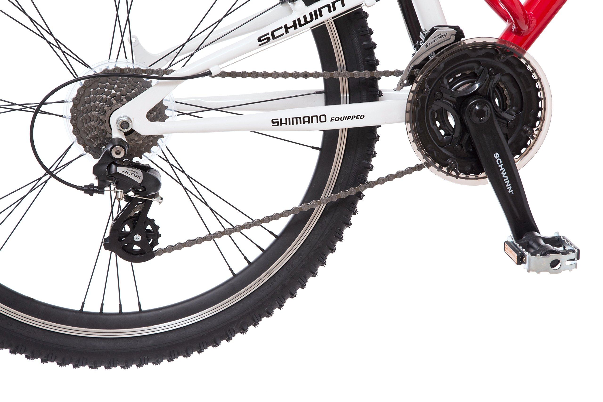 Schwinn Protocol 1.0 Men's Dual-Suspension Mountain Bike (26-Inch Wheels, Red) by Schwinn (Image #5)