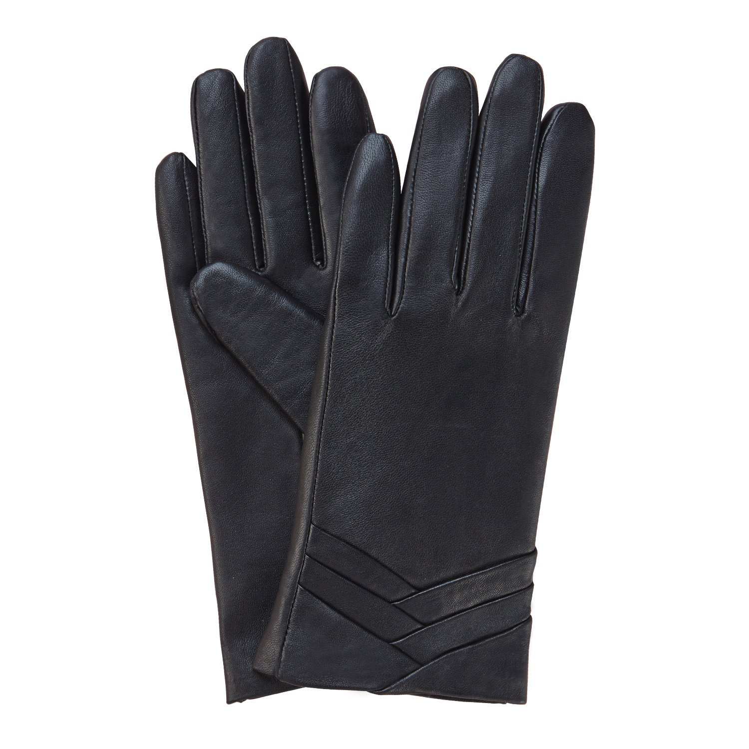 Vw leather driving gloves - Gsg Ladies Full Palm Touchscreen Spain Genuine Nappa Leather Gloves Womens Original Design 7 Smart Black At Amazon Women S Clothing Store