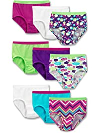 Fruit of the Loom Big Girl's 9-Pack Briefs