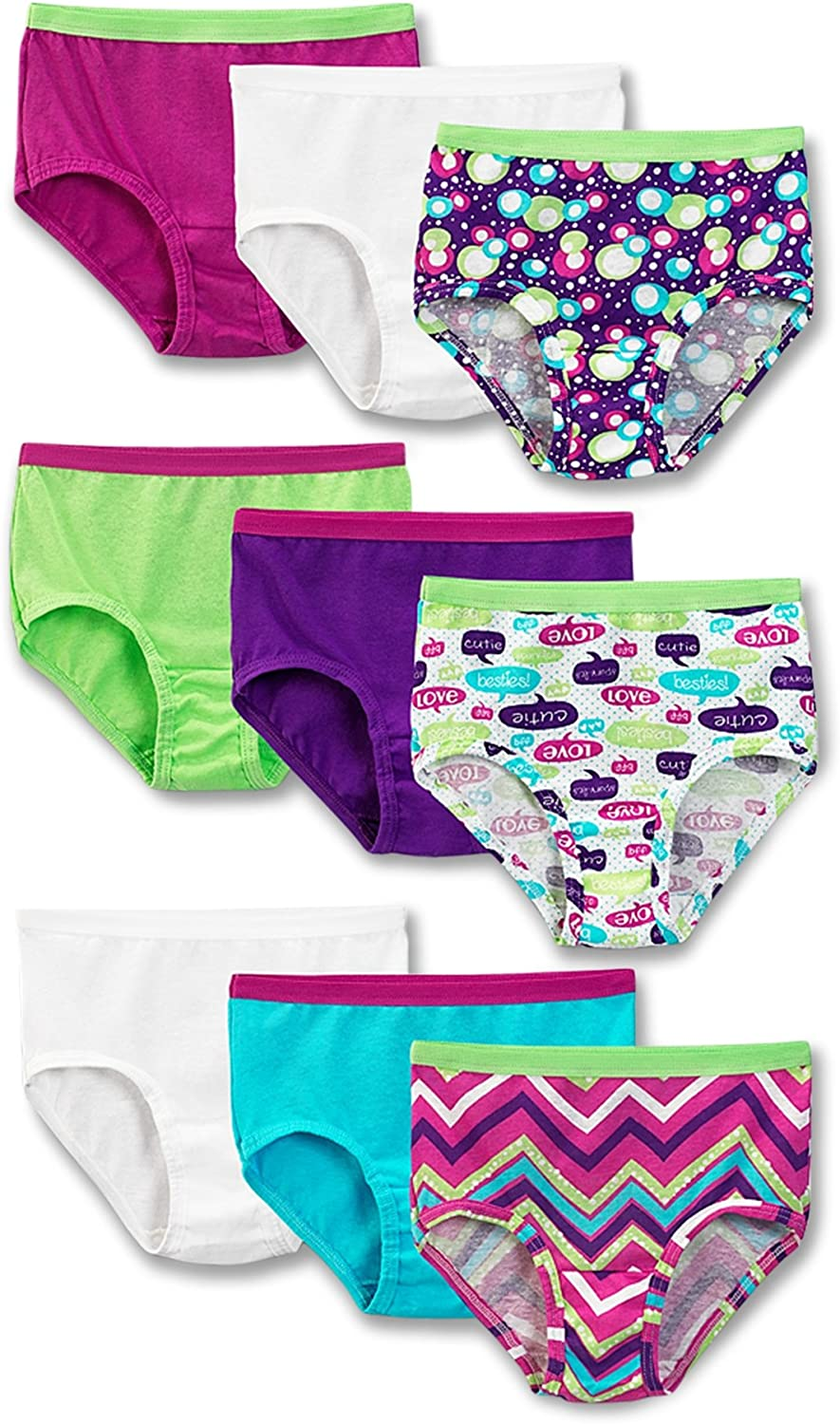 Fruit of the Loom Big Girls 9-Pack Briefs