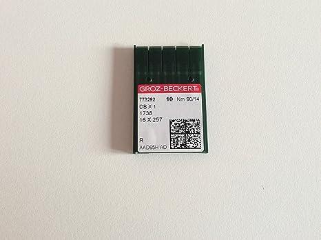 groz Beckert 16 x 231, DBX1 Tamaño 90/14 Agujas para máquina de coser