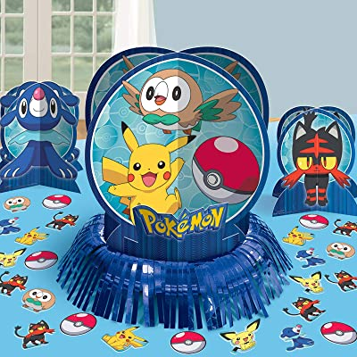 amscan Pokemon Table Decorating Kit, Party Favor: Toys & Games