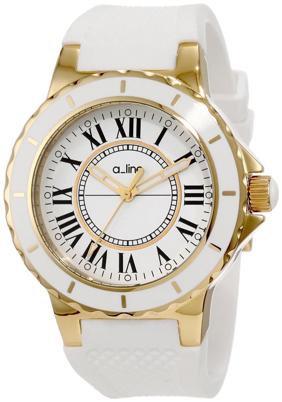 A Line – al-20009 – Armbanduhr – Quarz Analog – Armband Silikon weiß