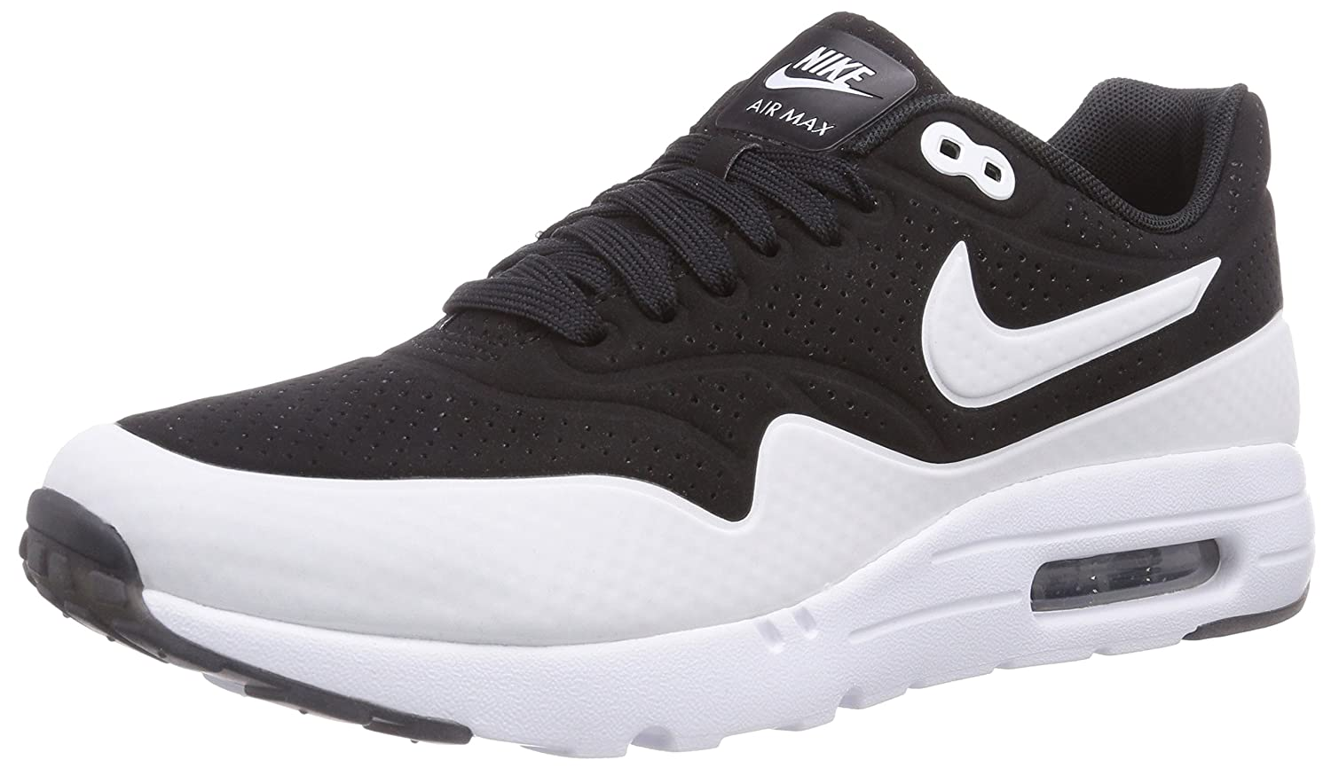 Nike Air Max 1 Ultra Moire Men's Fashion Sneaker BlackWhiteBlack UK 11