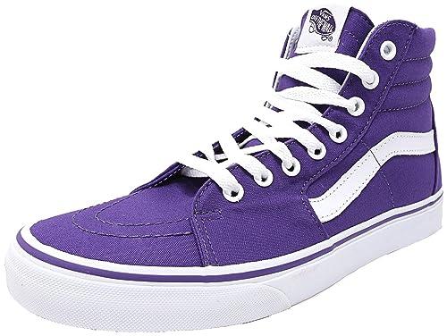 934c15ba6e Vans Sk8-Hi Canvas Unisex Prism Purple Sneakers  Amazon.co.uk  Shoes ...