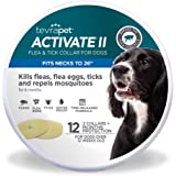 Activate II Flea and Tick Collar for Dogs, 12 Months of Flea and Tick Protection, Repels Mosquitos