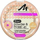 Manhattan Poudre Clear face 2 en 1 Naturel 77 11 g