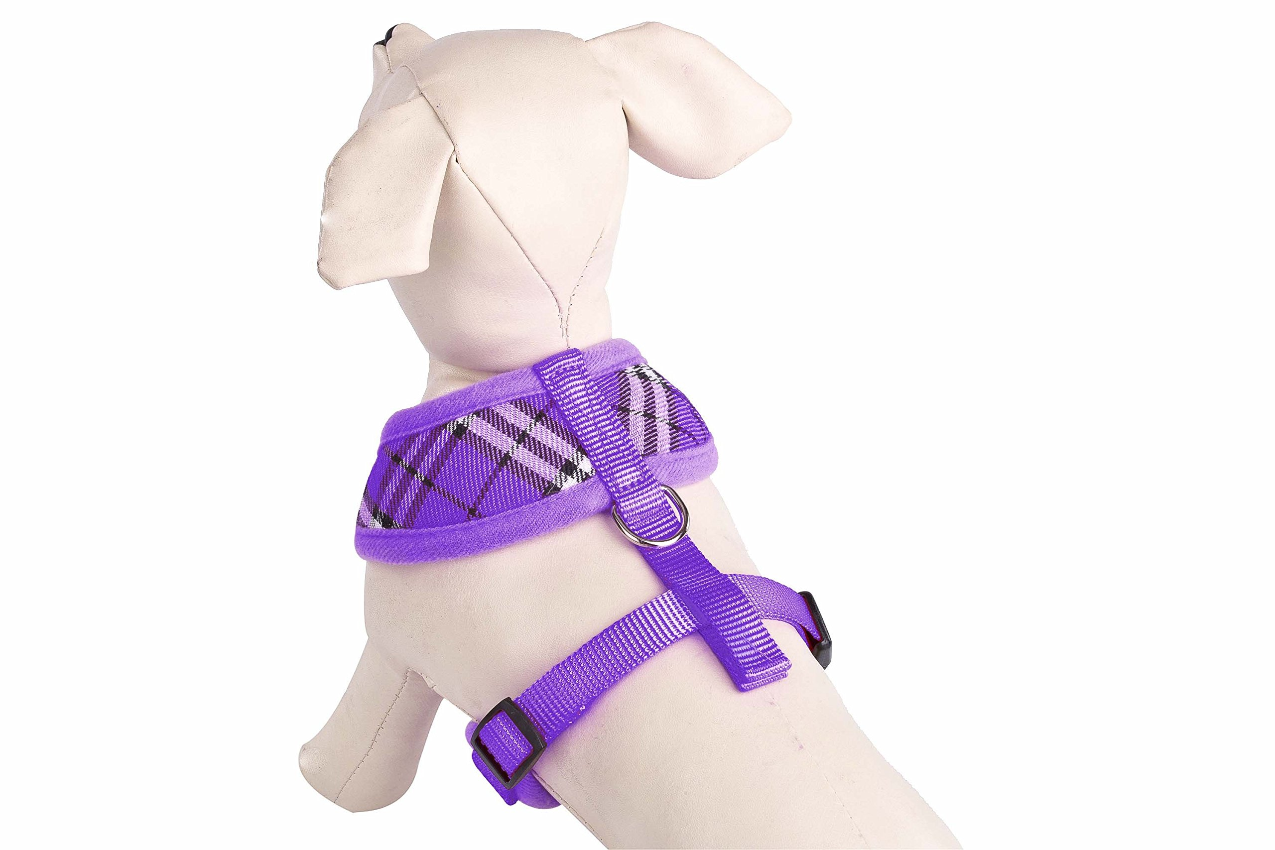 PUPTECK Soft Mesh Dog Harness Pet Puppy Comfort Padded Vest No Pull Harnesses, Purple Medium by PUPTECK (Image #1)