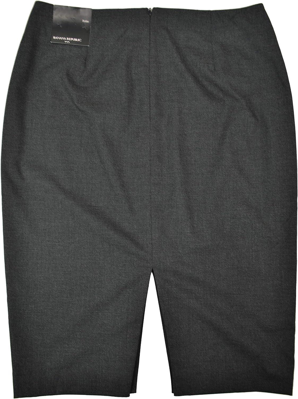 BANANA REPUBLIC Womens Petite Split Pencil Skirt Dark Charcoal Heather 4P