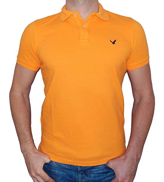 ee252c53 American Eagle Outfitters Mens Classic Fit Mesh Solid Polo T-shirt (Medium,  Chrome