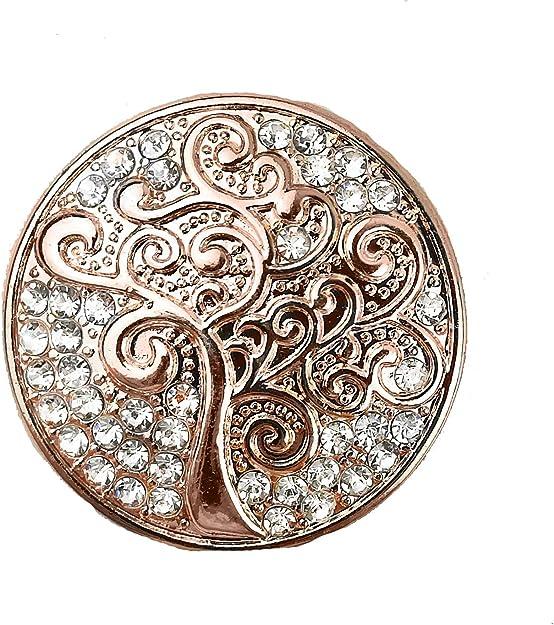 Treend24 Broche aimant/ée pour femme Motif arbre de vie Rose dor/é