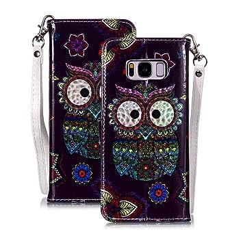 WIWJ Funda Samsung Galaxy S8 Carcasa 3D Espejo Disney PU ...