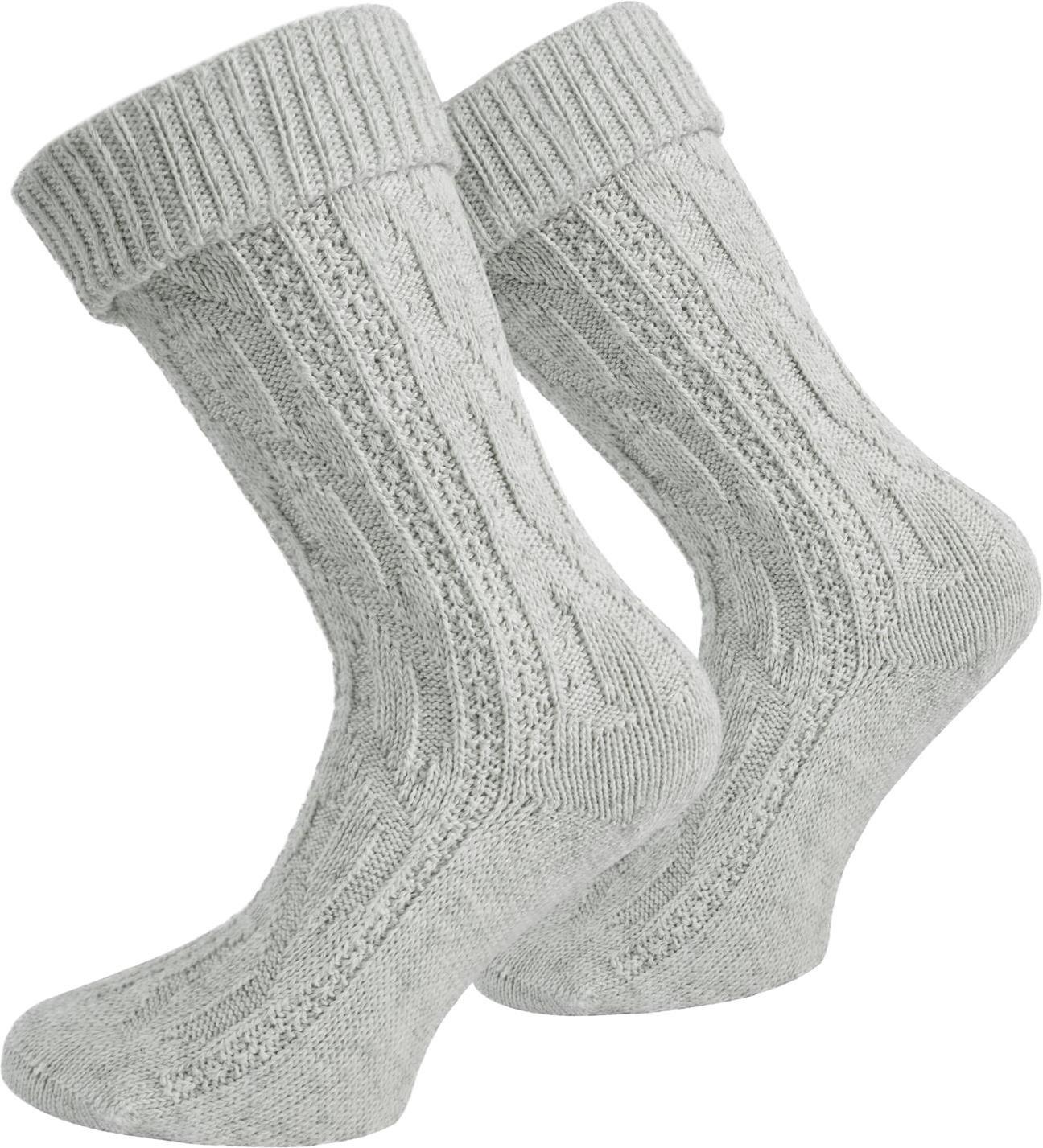 normani Trachtensocken aus atmungsaktiver Baumwolle mit Umschlag