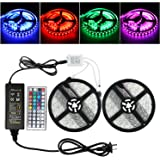 RUICAIKUN 10M LED Light Strips Waterproof Flexible RGB SMD5050 150 LED Strips Kit with Remote and 12V Power Supply,RGB Strip for Party Holiday Home and Outdoor