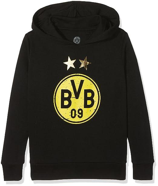 Borussia Dortmund BVB Niños Sudadera con Capucha de fútbol de Estrellas, Negro/Amarillo, 104, 2466481: Amazon.es: Deportes y aire libre