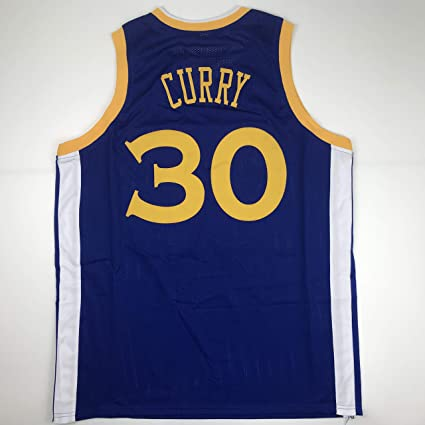 san francisco 4d058 2fc47 Unsigned Steph Stephen Curry Golden State Blue Custom ...