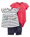 Carter's Baby Girls' 3 Piece Bodysuit and Diaper
