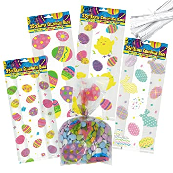 Amazon gift boutique easter cellophane bags 100 pack 4 gift boutique easter cellophane bags 100 pack 4 assorted styles negle Choice Image